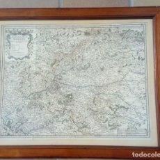 Arte: GRABADO CARTOGRÁFICO COLOREADO A LA ACUARELA. ORIGINAL DE 1723.SIGLO XVIII.. Lote 135596574