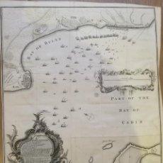Arte: BAHÍA DE CÁDIZ Y ROTA. LONDRES [LONDON], 1744-1747. 54 X 42,5 CM. TINDAL/RAPIN/BASIRE. BAY OF BULLS.. Lote 135676507