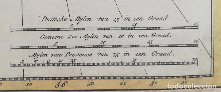 Arte: MAPA ESTRECHO DE GIBRALTAR - CADIZ - PORTUGAL - LISBOA - AÑO 1759 - Foto 6 - 136135298