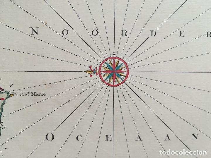 Arte: MAPA ESTRECHO DE GIBRALTAR - CADIZ - PORTUGAL - LISBOA - AÑO 1759 - Foto 7 - 136135298