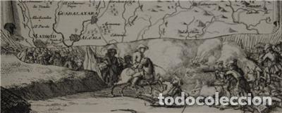 Arte: Mapa de la batalla de Brihuega, Guadalajara (España), 1720. P. Schenk/Valk - Foto 4 - 136201162