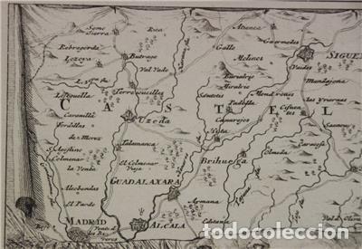 Arte: Mapa de la batalla de Brihuega, Guadalajara (España), 1720. P. Schenk/Valk - Foto 6 - 136201162