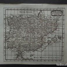 Arte: MAPA DE ESPAÑA Y PORTUGAL, 1743. SANSON/PUFENDORFF Y BRUZEN DE LA MARTINIERE. Lote 136209938