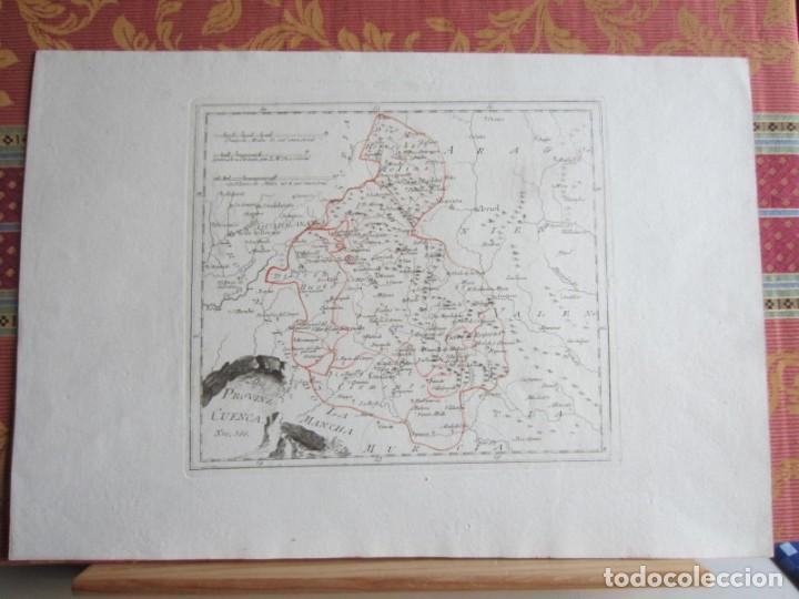 1789-MAPA CUENCA.SOLERA.TARAZONA.HUETE.ZAFRILLA.ZAHOREJAS.BEAMUD.ALMONACID.FUENTES.ALBILLA.TRAGACETE (Arte - Cartografía Antigua (hasta S. XIX))