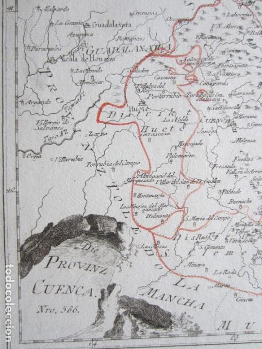 Arte: 1789-MAPA CUENCA.SOLERA.TARAZONA.HUETE.ZAFRILLA.ZAHOREJAS.BEAMUD.ALMONACID.FUENTES.ALBILLA.TRAGACETE - Foto 3 - 136210842