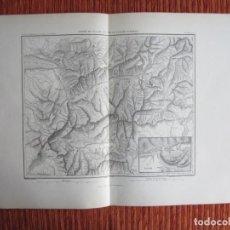 Arte: 1866-VALLE DE AOSTE.PLANO DE BARD.SAN MAURICE.. ALEMANIA. MAPA PLANO ORIGINAL. Lote 136217522