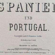 Arte: MAPA DE ESPAÑA Y PORTUGAL - GRAF - COELLO - AÑO 1866 - GRAN FORMATO. Lote 136255006