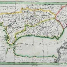 Arte: MAPA ANDALUCIA MURCIA - PHILIPP DE PRETOT - MOITHEY - AÑO 1773. Lote 136280530