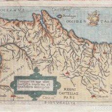 Arte: ANTIGO MAPA DEL REINO DE PORTUGAL, 1724. ORTELIUS/LOVISA. Lote 136308178