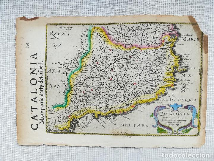Arte: MAPA DE CATALUNYA - MERCATOR - AÑO 1635 - Foto 2 - 136351694