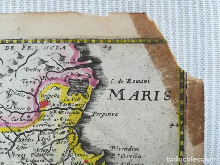 Arte: MAPA DE CATALUNYA - MERCATOR - AÑO 1635 - Foto 3 - 136351694