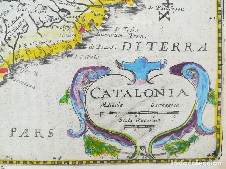Arte: MAPA DE CATALUNYA - MERCATOR - AÑO 1635 - Foto 4 - 136351694