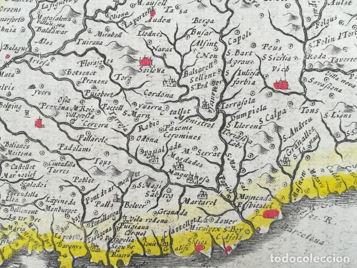 Arte: MAPA DE CATALUNYA - MERCATOR - AÑO 1635 - Foto 6 - 136351694