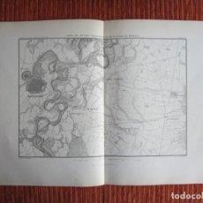 Arte: 1866-ALREDEDORES DE ALEJANDRIA Y PLANO DE MARENGO.ITALIA. MAPA PLANO ORIGINAL. Lote 136390626