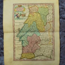 Arte: MAPA DE PORTUGAL (EUROPA), 1745. C. WEIGEL. Lote 136406666