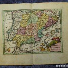 Arte: MAPA DE ESPAÑA Y PORTUGAL, 1745. C. WEIGEL. Lote 136407482