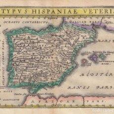 Arte: MAPA DE ESPAÑA Y PORTUGAL ANTIGUOS, 1661. CLUVER/ KELLER. Lote 136408454