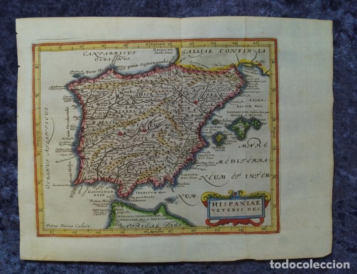 MAPA DE ESPAÑA Y PORTUGAL ANTIGUOS, 1676. KAERIUS/ CLUVER/ JANSONIUS (Arte - Cartografía Antigua (hasta S. XIX))
