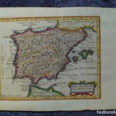 Arte: MAPA DE ESPAÑA Y PORTUGAL ANTIGUOS, 1676. KAERIUS/ CLUVER/ JANSONIUS. Lote 136409518