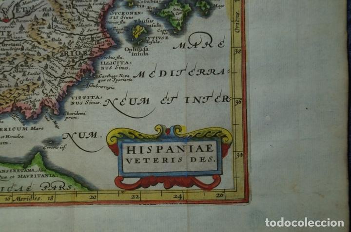 Arte: Mapa de España y Portugal antiguos, 1676. Kaerius/ Cluver/ Jansonius - Foto 4 - 136409518