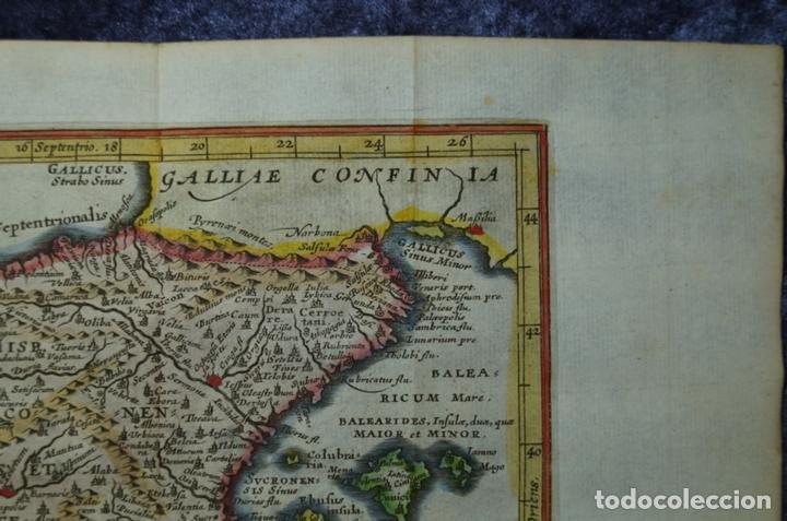 Arte: Mapa de España y Portugal antiguos, 1676. Kaerius/ Cluver/ Jansonius - Foto 5 - 136409518