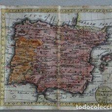Arte: MAPA DE ESPAÑA Y PORTUGAL, 1740. ANSELM DESING. Lote 136411022
