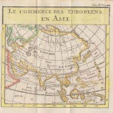 Arte: ANTIGUO MAPA DE ASIA, 1739. PLUCHE. Lote 136413882