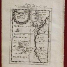 Arte: ISLAS DE CABO VERDE, CANARIAS MADEIRA Y PORTO SANTO (ÁFRICA, ESPAÑA Y PORTUGAL), 1719. MALLET. Lote 136452730