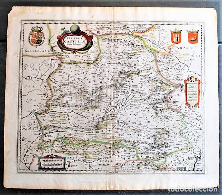 Utriusque Castiliae Nova Descriptio Mapa De Ca Buy Antique