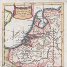 Arte: MAPA DE LOS ANTIGUOS PAISES BAJOS (EUROPA), 1772. BUFFIER. Lote 136499498