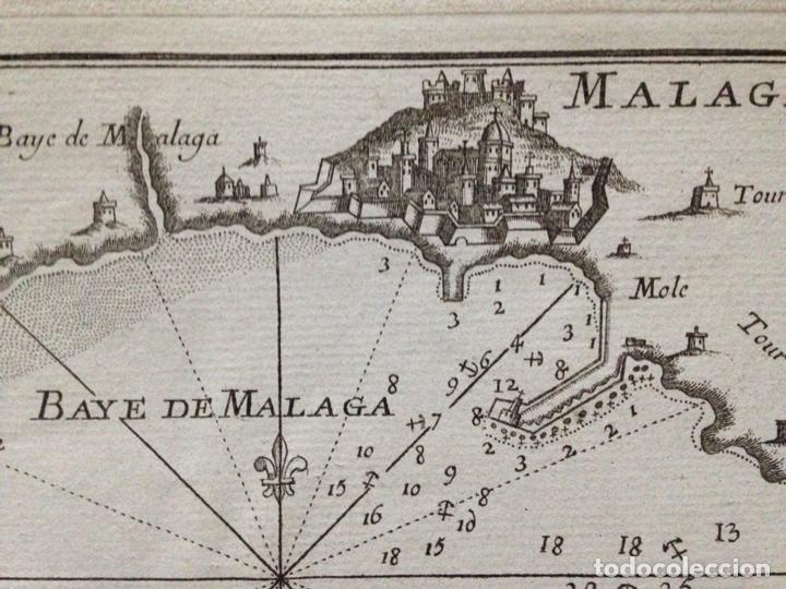 Arte: Mapa de la Bahía de Málaga (España), circa 1764. Roux - Foto 2 - 136517122