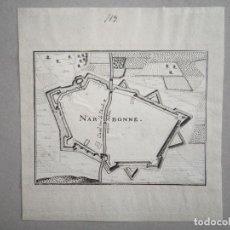Arte: PLANO DE LA CIUDAD DE NARBONA (FRANCIA, EUROPA)), 1770. ANÓNIMO. Lote 136639990