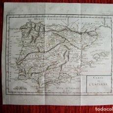 Arte: 1740- MAPA DE ESPAÑA. HISTORIA UNIVERSAL. FRANCIA. ORIGINAL. Lote 136726334