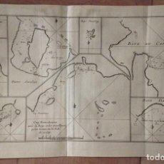 Arte: BAHÍAS Y CABOS DE LA ZONA DE MAGALLANES (ARGENTINA Y CHILE, AMÉRICA DEL SUR) , 1774. JAMES COOK. Lote 136755566