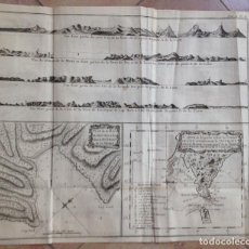 Arte: VISTAS DE LS TIERRA DE FUEGO (ARGENTINA, AMÉRICA DEL SUR)), 1774. JAMES COOK/BERNARD/PANCKOCKE. Lote 136758186