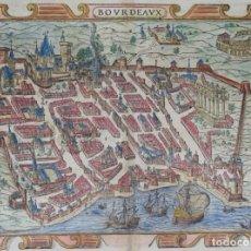 Arte: FRANCIA, BURDEOS, MAPA POR S. MÜNSTER, 1575, BOURDEAUX. Lote 136788386