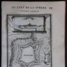Arte: VISTA Y PLANO DE LA FORTALEZA DE ARRONCHES, PORTALEGRE (PORTUGAL, EUROPA), 1685. MALLET/THIERRY. Lote 137121742