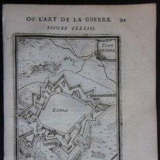 Arte: PLANO DE LA FORTALEZA DE ELVAS, PORTALAGRE, ALENTEJO (PORTUGAL, EUROPA), 1685. MALLET/THIIERRY. Lote 137123290