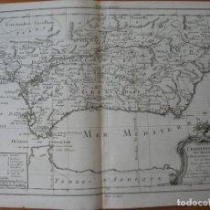 Arte: ANTIGUO MAPA DE ANDALUCÍA Y MURCIA (ESPAÑA), 1787. PHILIPPE PRETOT. Lote 137354078