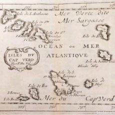 Arte: MAPA CARTOGRAFICO ISLAS CAVO VERDE ISLES DU CAP VERD 1676. Lote 137470282