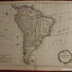 Arte: MAPA DE AMÉRICA DEL SUR, 1769. DESNOS. Lote 137561810