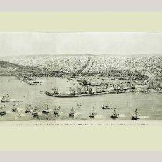 Arte: 1888 - PANORÁMICA DE BARCELONA - GRAN GRABADO ORIGINAL EN PASSEPARTOUT DOBLE - MÁS DE 1 METRO. Lote 137611530
