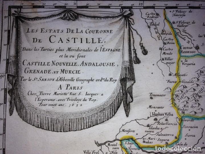 Arte: Gran mapa de Andalucía, Murcia, Valencia, Castilla..(España),1652. Nicolás Sanson/Mariette - Foto 2 - 137805086