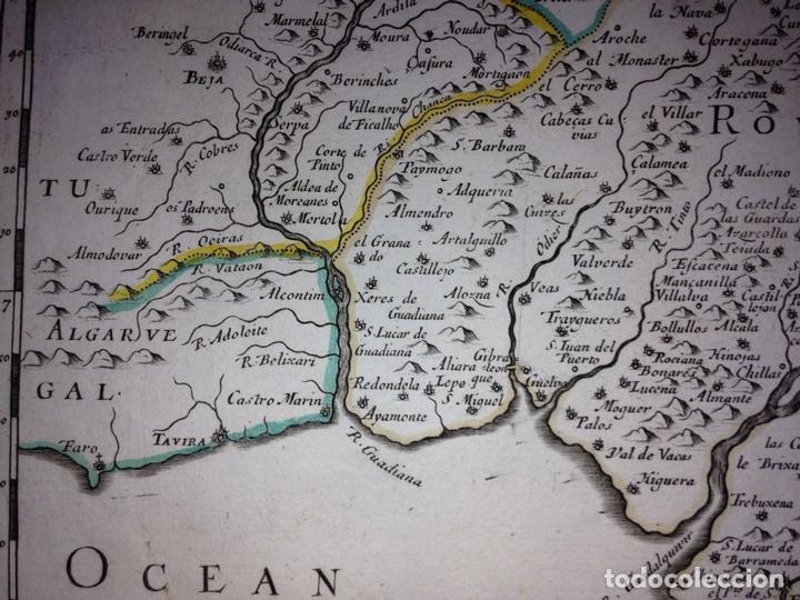 Arte: Gran mapa de Andalucía, Murcia, Valencia, Castilla..(España),1652. Nicolás Sanson/Mariette - Foto 3 - 137805086