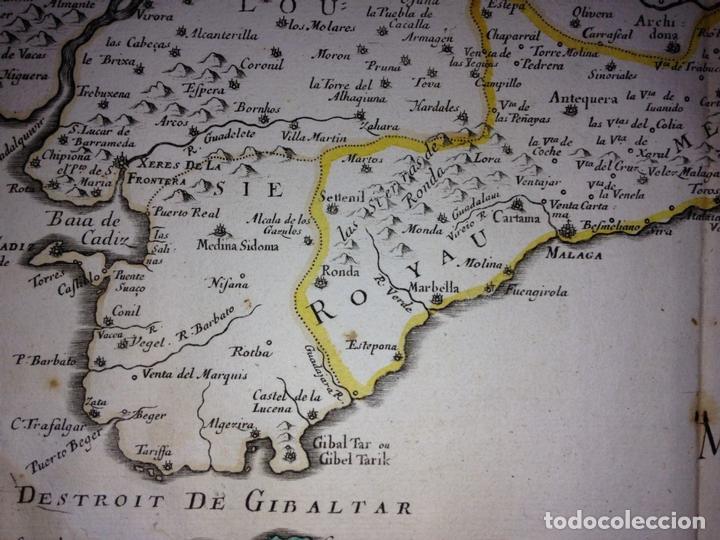Arte: Gran mapa de Andalucía, Murcia, Valencia, Castilla..(España),1652. Nicolás Sanson/Mariette - Foto 5 - 137805086