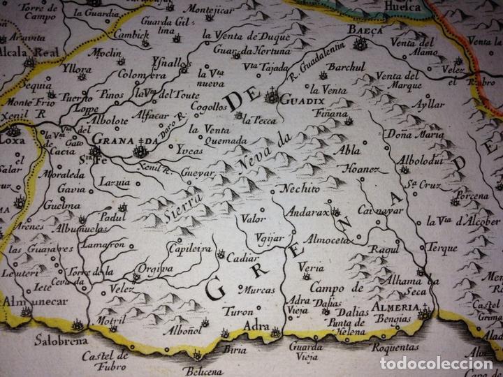 Arte: Gran mapa de Andalucía, Murcia, Valencia, Castilla..(España),1652. Nicolás Sanson/Mariette - Foto 6 - 137805086