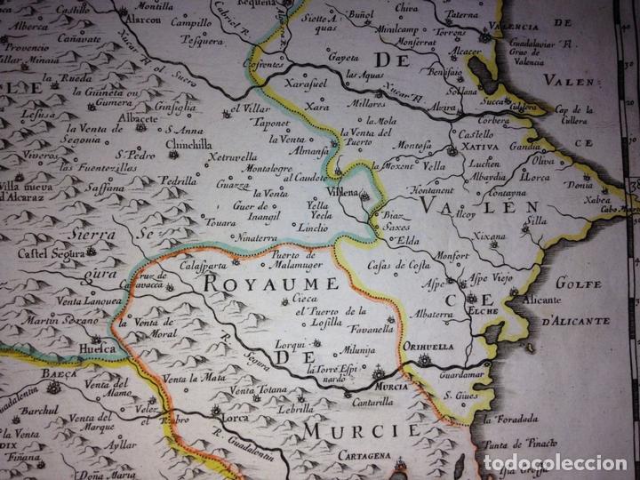 Arte: Gran mapa de Andalucía, Murcia, Valencia, Castilla..(España),1652. Nicolás Sanson/Mariette - Foto 7 - 137805086