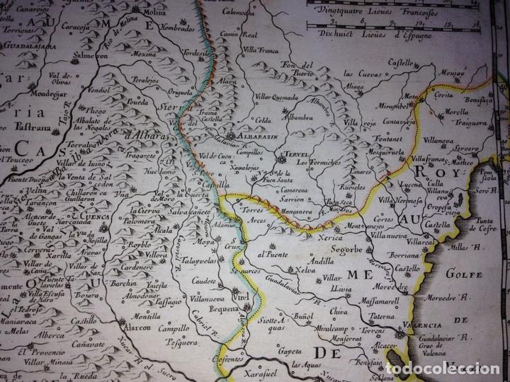 Arte: Gran mapa de Andalucía, Murcia, Valencia, Castilla..(España),1652. Nicolás Sanson/Mariette - Foto 8 - 137805086