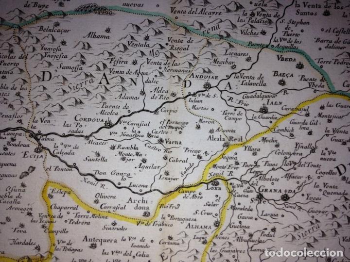 Arte: Gran mapa de Andalucía, Murcia, Valencia, Castilla..(España),1652. Nicolás Sanson/Mariette - Foto 9 - 137805086