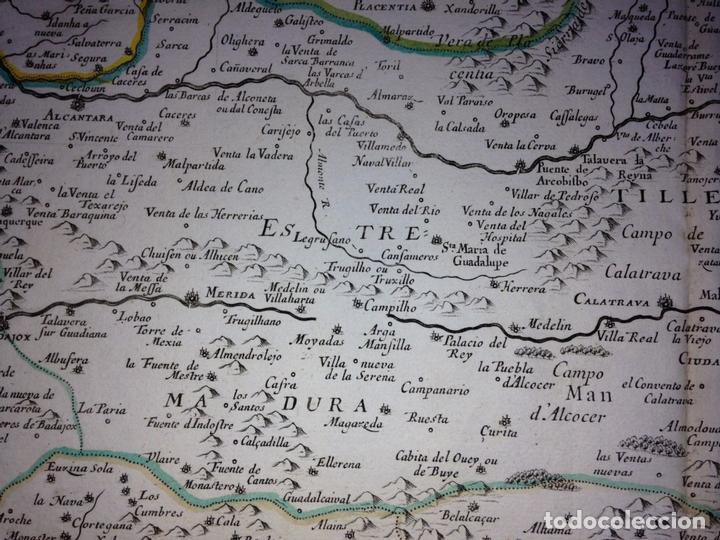 Arte: Gran mapa de Andalucía, Murcia, Valencia, Castilla..(España),1652. Nicolás Sanson/Mariette - Foto 10 - 137805086